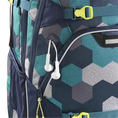 Рюкзак Coocazoo ScaleRale Blue Geometric Melange синий/бирюзовый