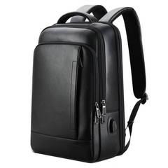 Рюкзак деловой BOPAI чёрный нат. кожа