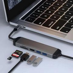 Кабель-переходник WiWU Alpha 521H Type C to x2 USB 3.0; HDMI; Cardreader
