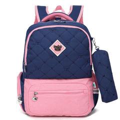 Рюкзак школьный Sun Eight 2640 синий с розовым