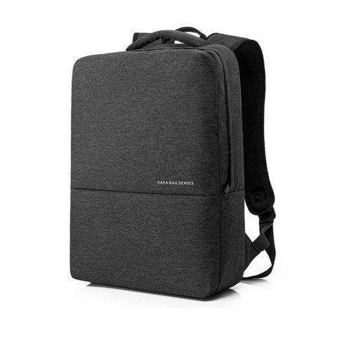 Рюкзак плоский для ноутбука 15,6 KAKA 2237 тёмно-серый