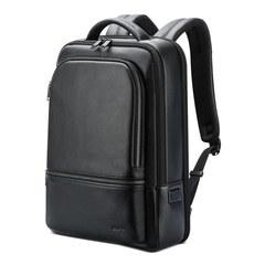 Рюкзак классический BOPAI 61-70111 нат. кожа, черный