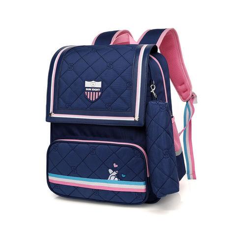Рюкзак школьный Sun Eight 2697 синий с розовым