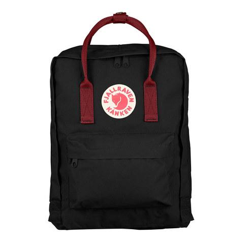 Рюкзак Fjallraven Kanken черный/бордовый, 16 л