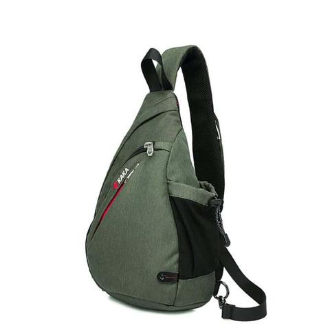 Рюкзак однолямочный повседневный КАКА 99001 зелёный