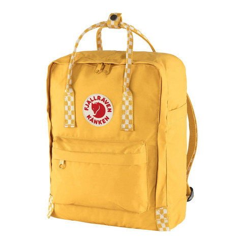 Рюкзак Fjallraven Kanken желтый/шахматы, 16 л