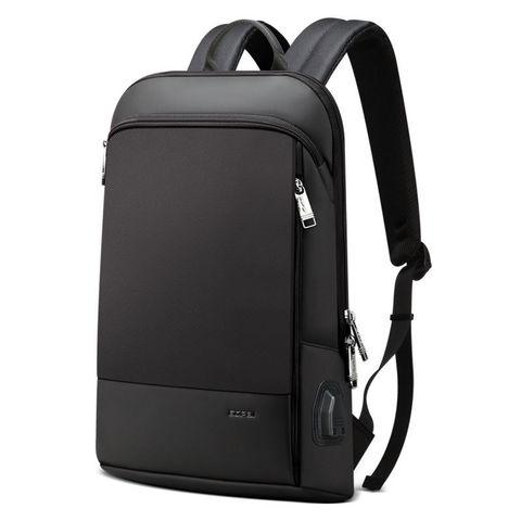 Рюкзак тонкий для ноутбука BOPAI с USB черный