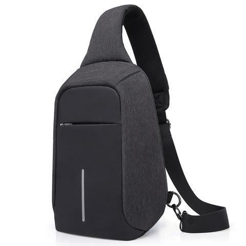 Рюкзак однолямочный повседневный КАКА 99018 чёрный