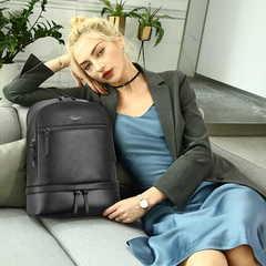 Рюкзак компатктный BOPAI 62-62051 нат. кожа