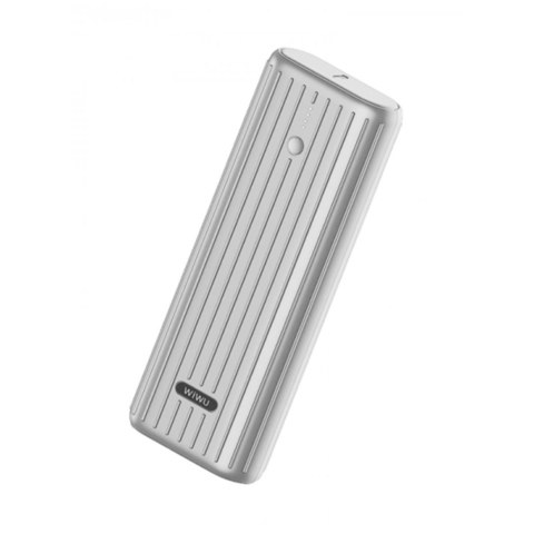 Внешний аккумулятор WiWU JC-09 (20000 mAh, Type-C, PD, QС 3.0) серебристый