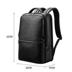 Рюкзак для бизнеса BOPAI 61-69711 нат. кожа черный