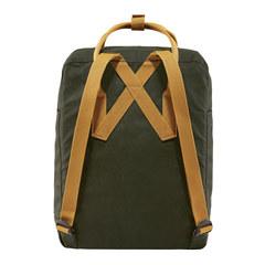 Рюкзак Fjallraven Kanken темно-зеленый/желтый, 16 л