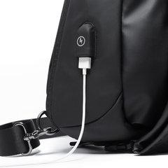 Рюкзак однолямочный Tangcool 901-1 чёрный