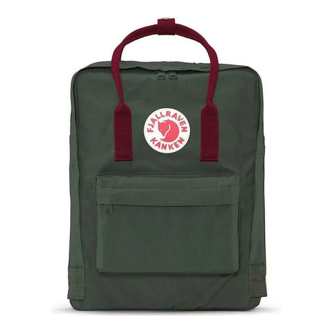 Рюкзак Fjallraven Kanken темно-зеленый/бордовый, 16 л